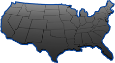 map of united states for where rentals can be made - covering the entire continental USA