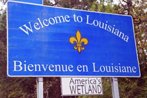 Welcome to Louisiana road sign
