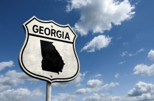 Road sign for US State of Georgia